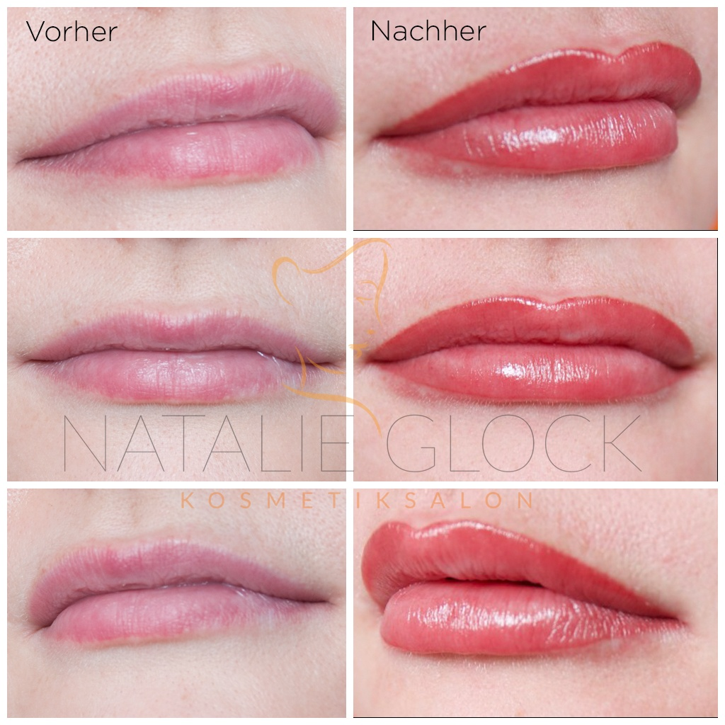 Permanent Make-Up Lippen Aquarelltechnik