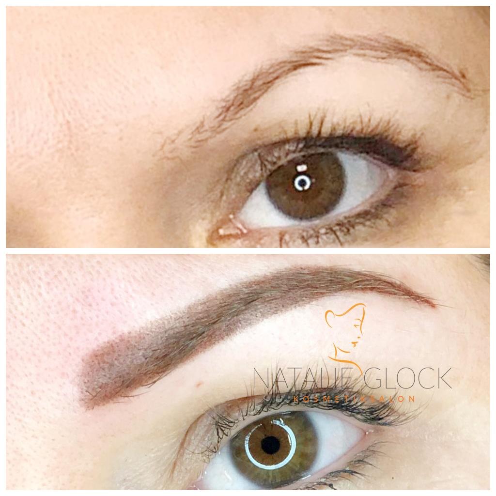 Permanent make-up Augenbrauen Schattierung