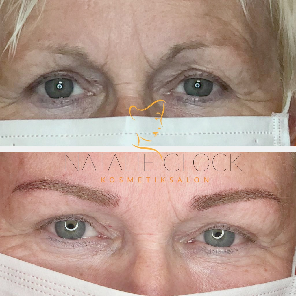 permanent make-up Augenbrauen Härchenzeichnung mit Schattierung
